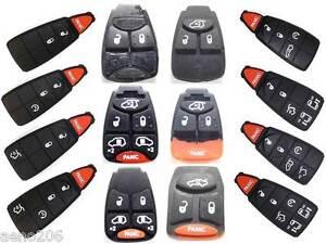 Schluessel-Gummi-Ersatz-Tasten-Pad-fuer-Chrysler-300C-LE-LX-Jeep-Dodge-Button