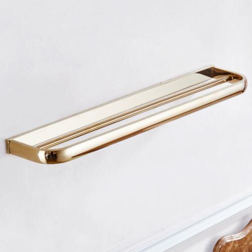 57cm Badezimmer Doppel Handtuchhalter Halter Bars Rack Messing Wand montiert