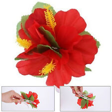 1 x HAWAIIAN FLOWER HULA LUAU FANCY DRESS PARTY HIBISCUS HAIRCLIP QR06