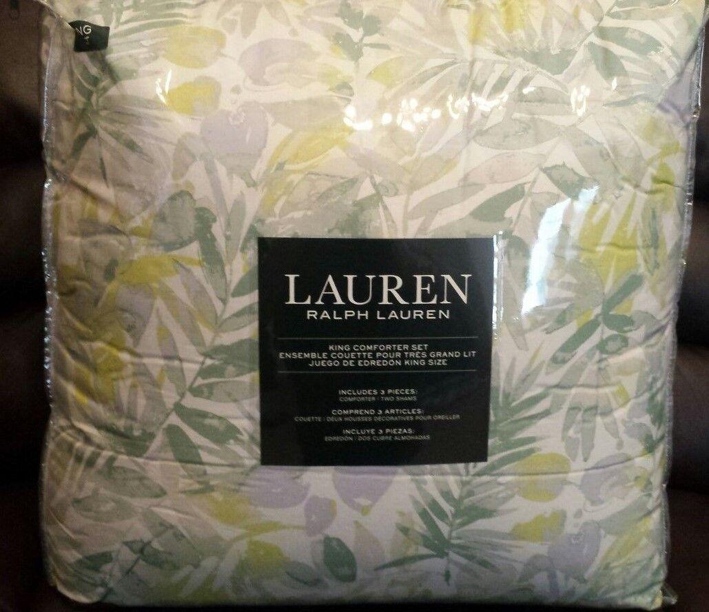 RALPH LAUREN King King King Comforter Set    Talia Pond Lime   Free Shipping fbbd6a