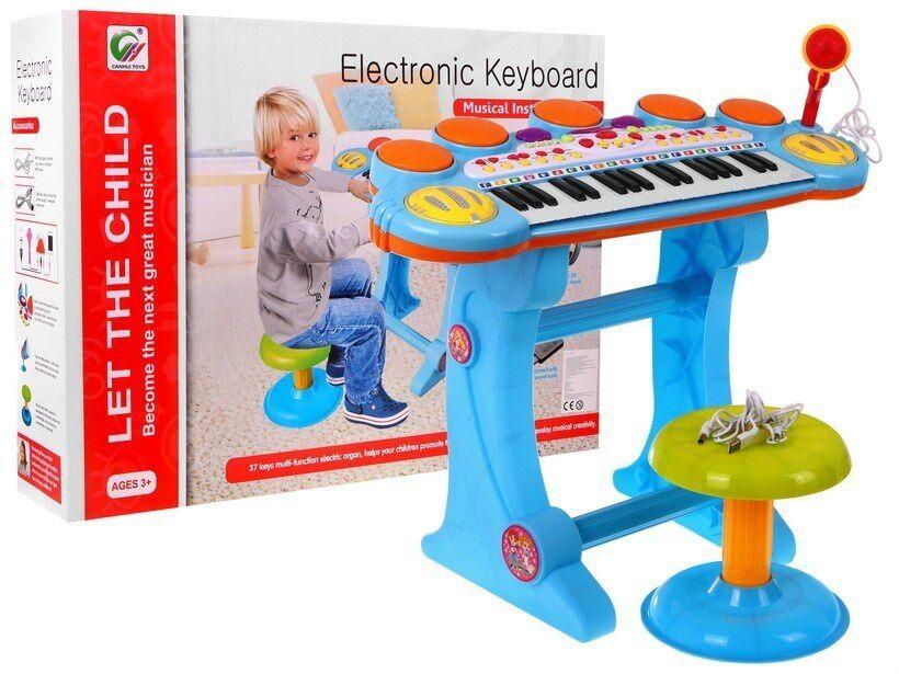 caldo PIANOLA MUSICALE CON MICROFONO MICROFONO MICROFONO TASTIERA ELETTRONICA CON SGABELLO PER BAMBINI  risparmiare sulla liquidazione