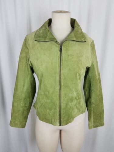 Bagatelle Leather Suede Cropped Short Zip Up Jacke