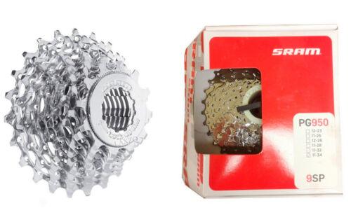 Sram PG950 9 Vitesse Route Et Mtb Cassette 11-28,11-30 /& 11-34 shimano compatible