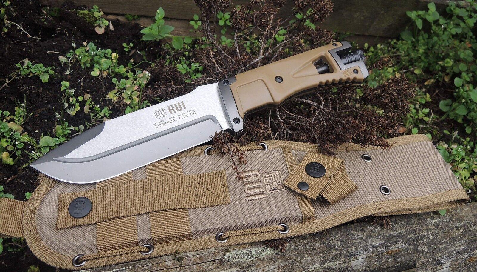 RUI Messer Fahrtenmesser Outdoormesser 440 Stahl Nylonscheide+Feuerstarter 32071 32071 32071 616ecb