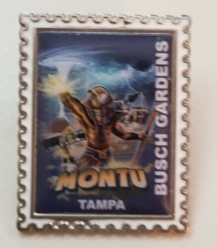Busch Gardens Pin Montu Stamp Series Trading Pin Roller-coaster ride