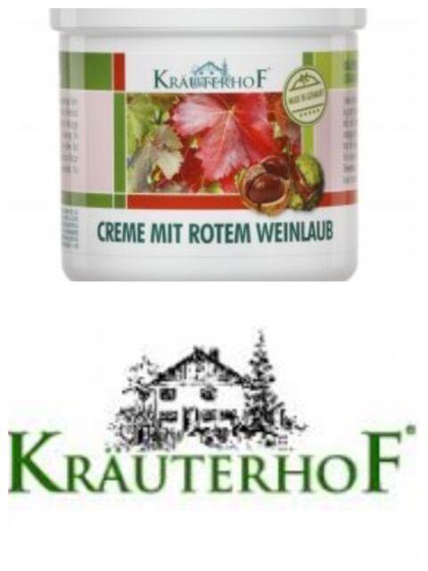 KRAUTERHOF -250ml Foot Cream for Varicose Veins* -horse chestnut-red vine leaves