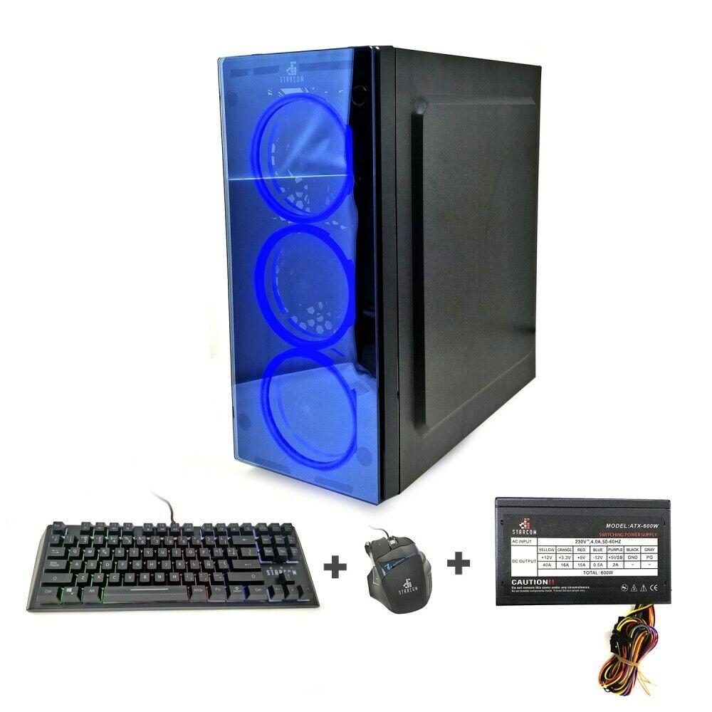 Caja Ordenador Gaming Led Starcom Nova USB 3.0 Pack ATX-600W +Teclado +...