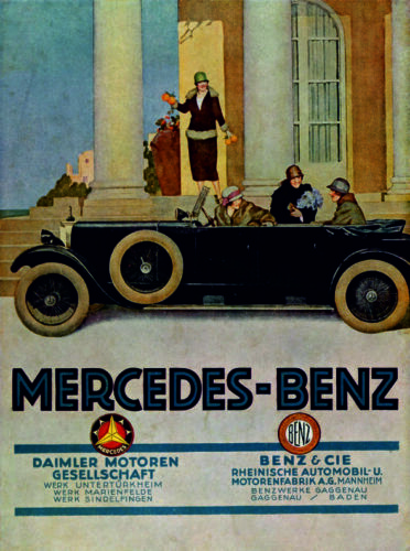 Vintage Mercedes-Benz Poster Print