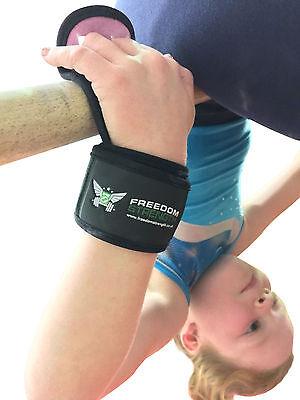 Freedomstrength ® Per Bambini Da Ginnastica Palm Protector Protezioni Imbottito Cinghia Da Polso-h® Children's Gymnastic Palm Protector Guards Padded Wrist Strap It-it