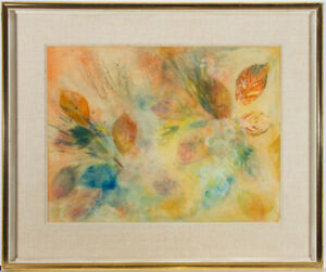 Suzanne-Hayward-Young-Signed-amp-Framed-Mid-20th-Century-Gouache-Autumn