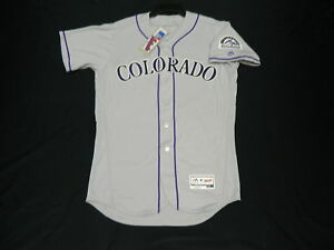 the latest 1987f 55bb8 Details about Authentic Majestic SIZE 52 2XL COLORADO ROCKIES ROAD GRAY  FLEX COOL BASE Jersey