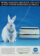 Publicité 1986  MINOLTA EP 50  copieur