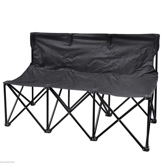 Swell Folding Portable Team Sports Sideline Bench 3 Seater Outdoor Waterproof Carrybag Creativecarmelina Interior Chair Design Creativecarmelinacom