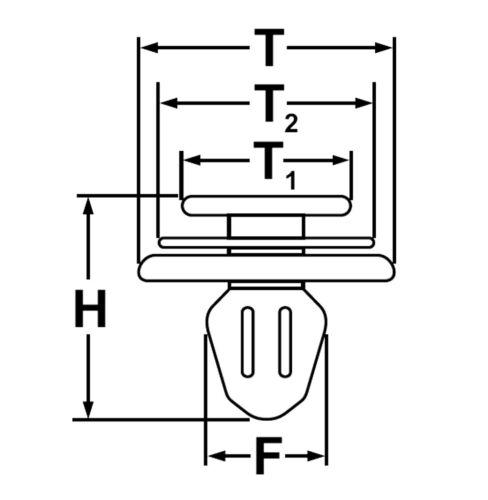 30x Panneau de porte clips pour bmw e36 e46 e34 e39 e38 x3 x5 z3 z8-51411973500