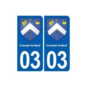 03 Creuzier-le-neuf Blason Ville Autocollant Plaque Stickers DéLicieux Dans Le GoûT