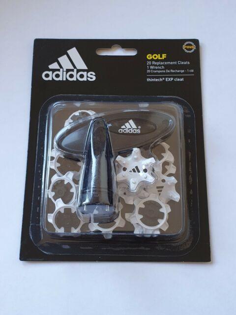 Adidas Ag Thintech 20 Pièce Rabattable Cale Golf Clous Pointes Blanc