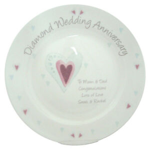 Unusual Wedding Anniversary Gifts Uk : ... -WEDDING-ANNIVERSARY-PERSONALISED-PLATE-Unique-amp-Unusual-Gift-Idea