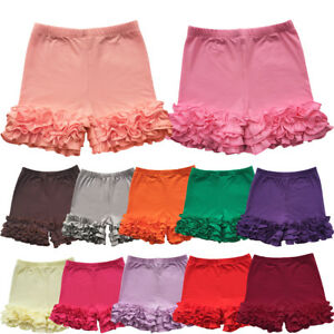 Cute-Toddler-Baby-Girl-Layered-Double-Icing-Ruffle-Pants-Shorts-Bottoms-Boutique