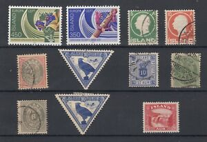 Iceland-Collection-of-13-MH-VFU-JK1923