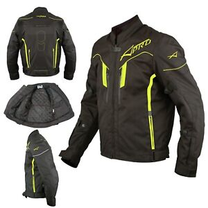 Motorcycle Textile Sport Jacket Armour High Visibility CE Motorbike Fluo