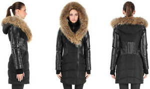 c4707e102c55a Image is loading AUTHENTIC-Rudsak-Shauna-Leather-Sleeves-Down-Parka-Winter-