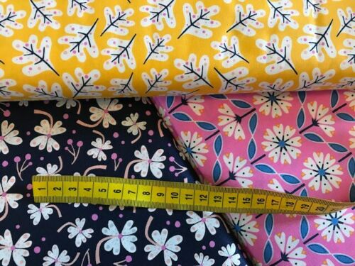 3 Fat Quarters Floral Lost Treasures  Range from Dashwood Studio 100/% Cotton