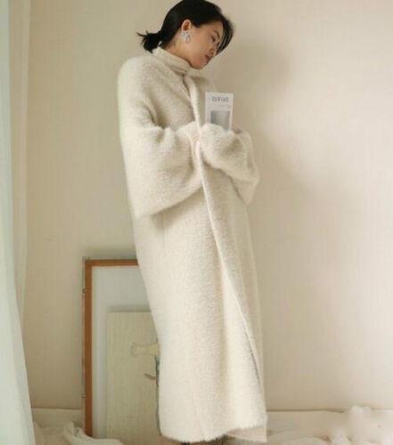 per in cashmere di Outwear donna cashmere Cappotto elegante Parka di pelliccia di e maglione qwwHzX8