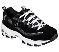 11936 Black Dlites Skechers Shoe Women Sport Casual Comfort Soft Memory Foam