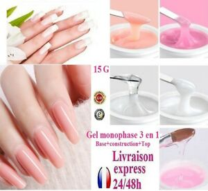 15 g set one phase uv gel 3 in 1 for capsules nails fake