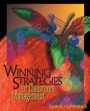 Winning Strategies for Classroom Management Carol Bradford Cummings Paperback