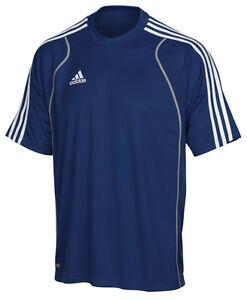 Adidas-T8-Herren-T-Shirt-blau-Training-Fitness-Sport-Tshirt-Gr-XS-S-L
