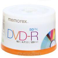 100 Memorex 16x Silver Logo Blank 4.7gb Dvd-r Media Fast Priority Mail