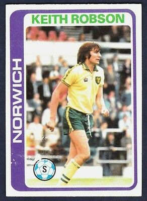 TOPPS-FOOTBALL -#092- NORWICH BILLY STEELE PALE BLUE BACK 1979