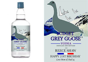 Grey Goose Vodka Label PERSONALISED GREY GOOS...