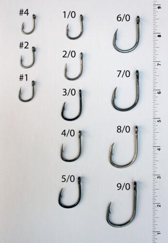 25 Size 5//0 4x Strong Custom Offshore Live Bait Hooks L319