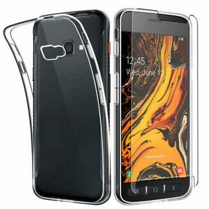 For-Samsung-Galaxy-Xcover-4s-Case-Clear-Slim-Gel-Cover-amp-Glass-Screen-Protector