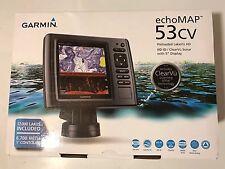 "*New* Garmin echoMAP 53CV 5"" Fishfinder GPS Combo U.S. LakeVu Maps 010-01794-01"