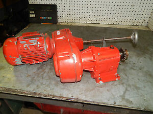 Brooks d80bh s291653 75kw 1hp motor w lenze variable for Variable speed gear motor