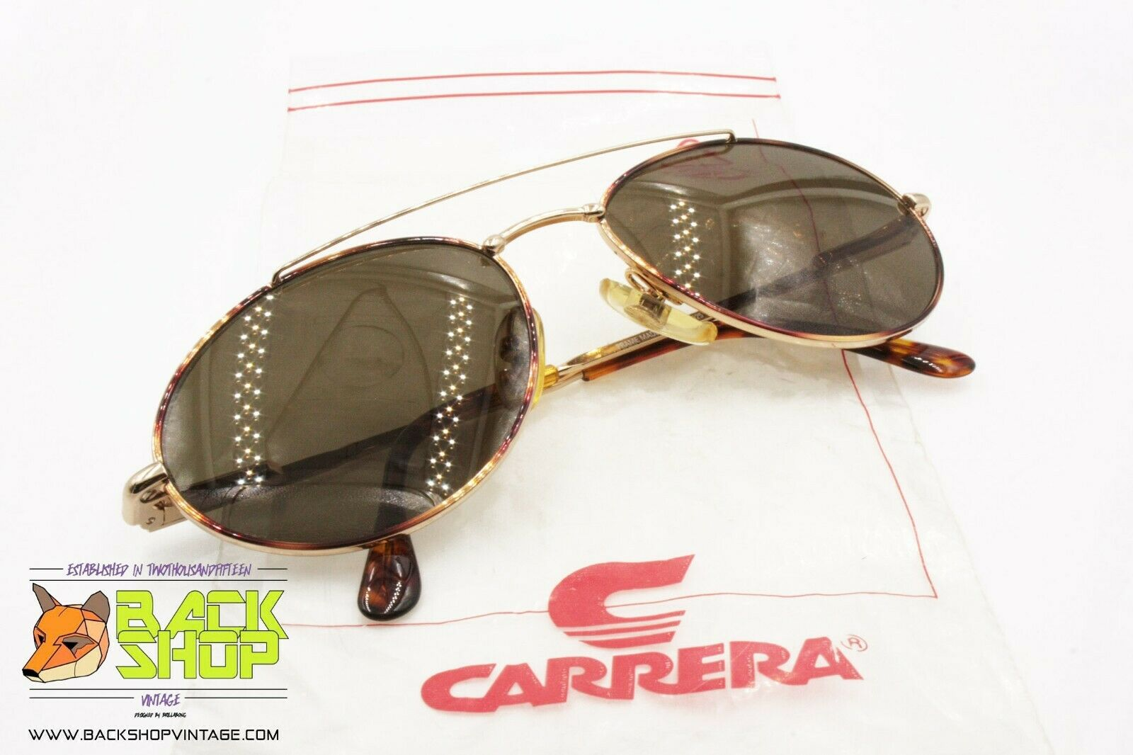 Carrera Mod. 4925 41 Vintage Sunglasses Aviator Pilot, NEW OLD STOCK 1980s-show original title