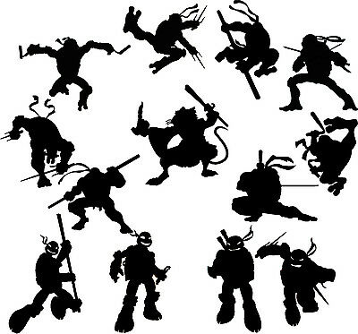 Die Cut Outs silhouette Ninja Turtles X 16 Topper Formes Fairy bocaux