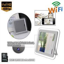 32G HD 1080P Wireless IP WiFi Spy Mirror Alarm Clock Camcorder Hidden Camera DVR
