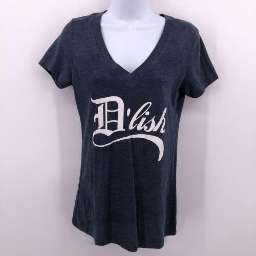 Ink Detroit Sz M D'Lish Blue V Neck Slim Fit T Shi