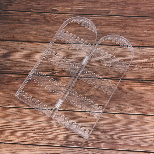 Clear Acrylic Earrings Necklace Jewelry Display Rack Stand Organizer Holder-PTH