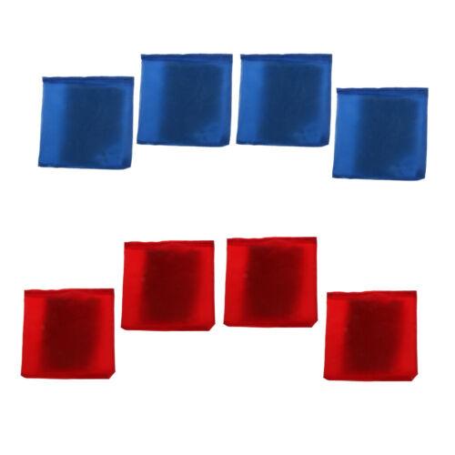 8pcs Blue /& Red Cornhole Bag Wetterfeste Cornhole Bag mit Kunststoff