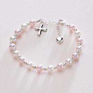 Perlen Armband Zur Kommunion Pearl Bracelet Bridal Girl