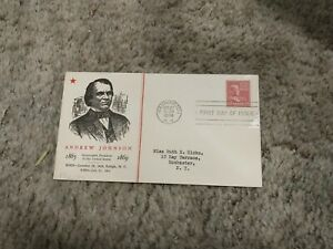 1938 Linprint#822 17 Cent Johnson Fdc