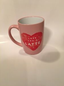 e29f0deb2e2 Details about Homemade by Ayesha Curry Ceramic Mug Love You A Latte Heart  Pink