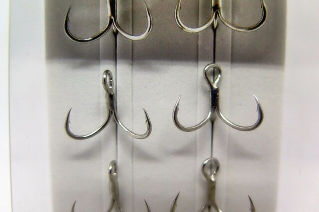 Decoy Y-W77 Treble Hook Wide Gap Extra Strong Hooks Size 1 3591