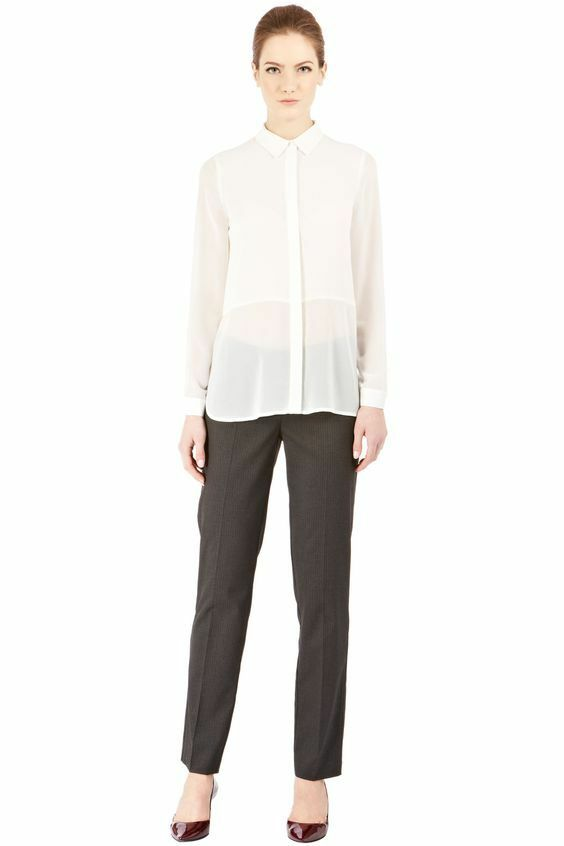 Appris Entrepôt Avec Couture Détail Work Wear Pantalon Doux Et AntidéRapant