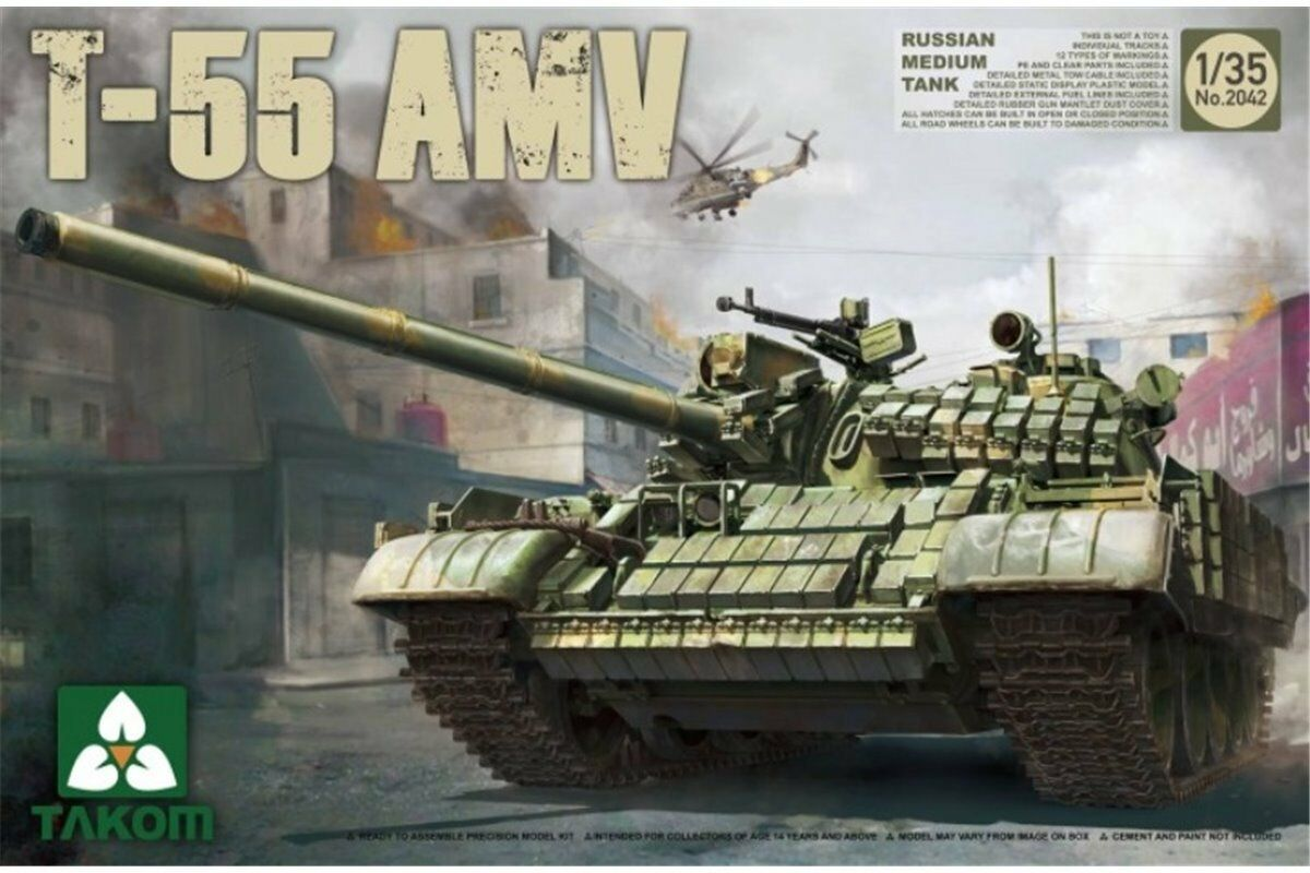 Takom TAKO2042 1 35 Russian Medium Tank T-55 AMV